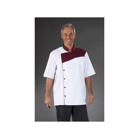 vetement de cuisine professionnel veste de cuisine professionnel homme blanc finition