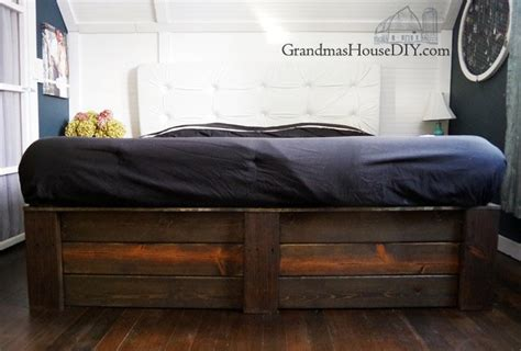 build   platform bed frame diy grandmas house diy