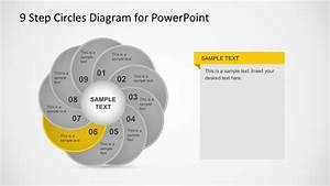 9 Step Circles Diagram For Powerpoint