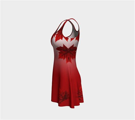 red maple leaf dress beautiful canada dresses flare dress