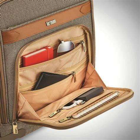 hartmann herringbone deluxe underseat carry  spinner carry  luggage