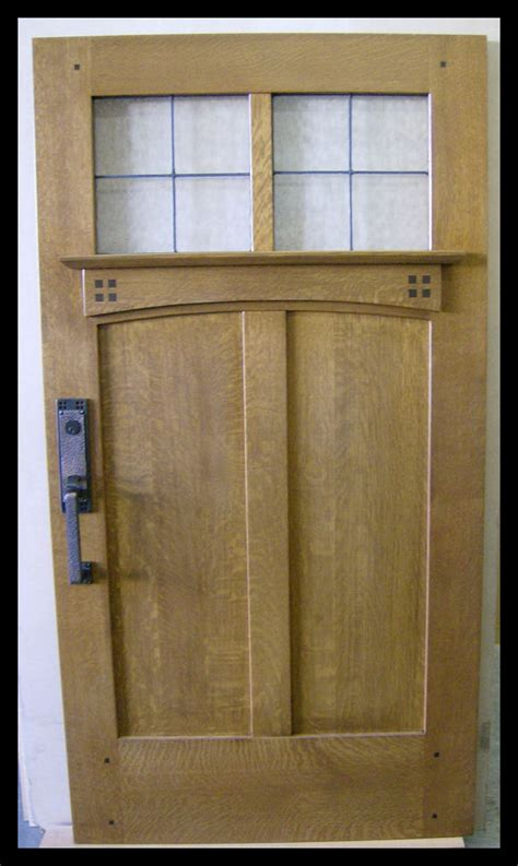 mission style front door of oak workshop authentic craftsman mission style