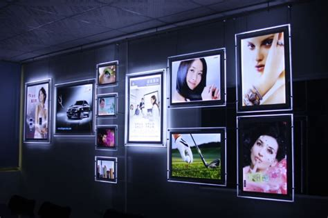 crystal led snap frame poster board light up poster frame