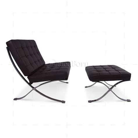 ludwig mies ven der rohe barcelona style chair brown