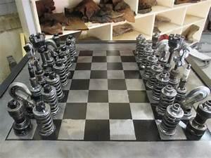 Amateur Mechanic Builds Chess Set Out of Old Car Parts