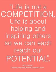 Life Is Not A Competition... | Wisdom, Inspirational and ...