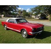 1964 1/2 Red Mustang White Convertible Top For Sale