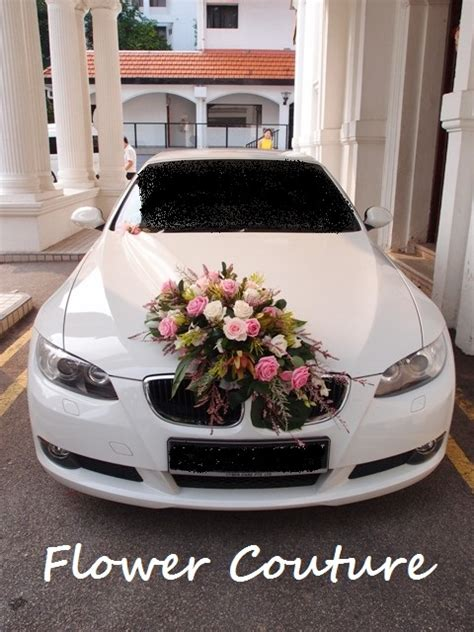 scene wedding car floral decoration rustic