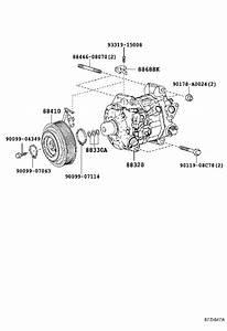 2018 Toyota Highlander A  C Compressor Clutch  Clutch