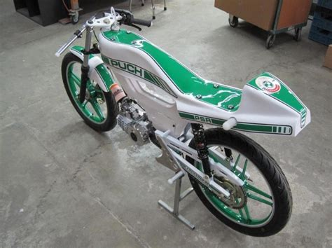 re puch maxi custom cafe racer build pic heavy moped army