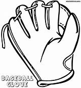 Glove Baseball Coloring Pages Colorings Coloringway sketch template