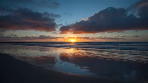Nature Relaxation Video Beautiful Coastal Sunset From