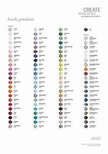 Swarovski Bicone Bead Colour Chart - Beads and Sew On ...