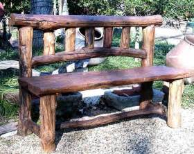 best 25 rustic outdoor benches ideas on log