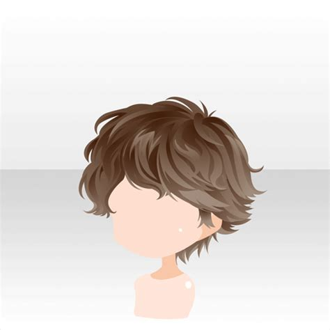 anime hair boy short curly brown curly hair drawing