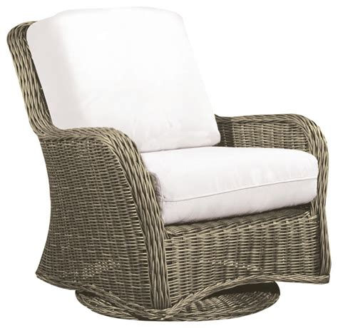 hauser coastal glider all weather wicker club chair with