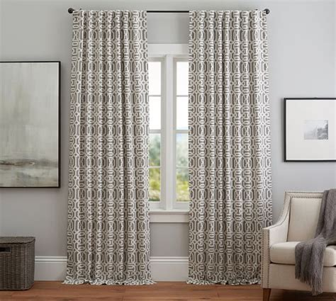 trellis pattern curtains trellis drape pottery barn