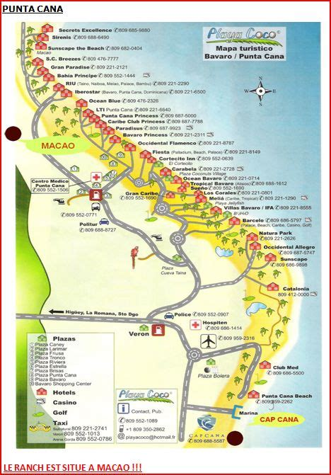 Dominican Republic Punta Can a Hotel Map