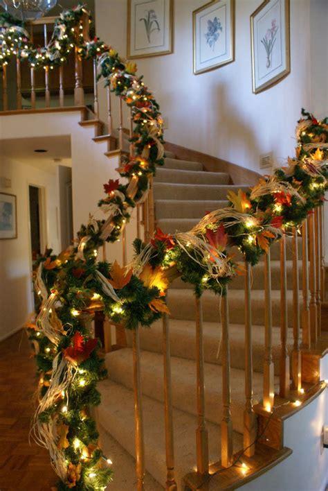 cozy fall staircase decor ideas digsdigs