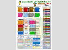 Calendario mondiali Brasile 2014 JGuana