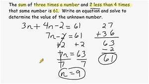 Using Algebra To Solve Word Problems