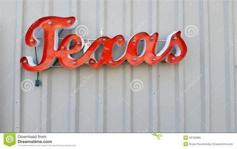 metal wall word to hang and light up stock photo