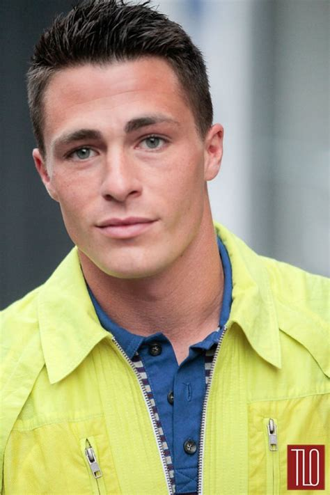 Colton Haynes At New York Fashion Week Men's  Tom + Lorenzo