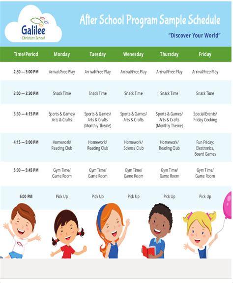 school schedule template after school schedule templates 9 free sles exles format free premium