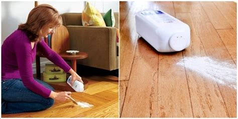 Fixing Creaky Floors With Baby Powder by Clever Wood Floor Hacks