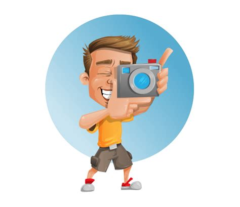 photographer vector character vector characters