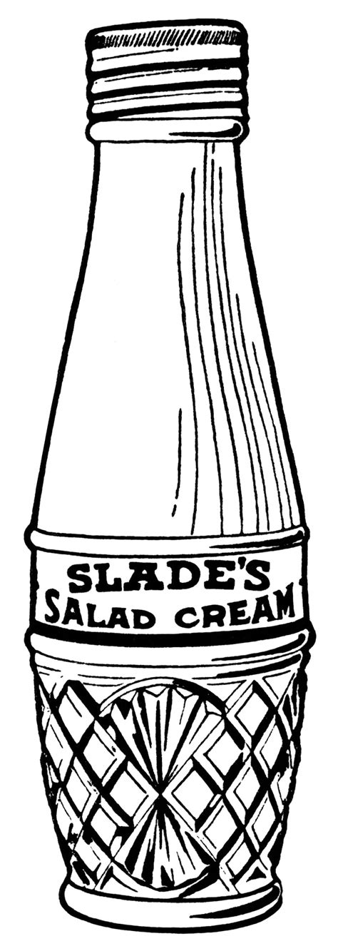salad clipart black and white vintage salad dressing clip design shop