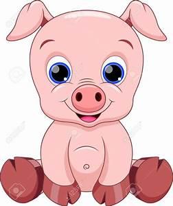 Cute Baby Pig Cartoon Royalty Free Cliparts, Vectors, And ...
