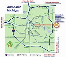 Ann Arbor Michigan City Map - Anna Arbor michigan • mappery
