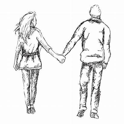 Hand Couples Couple Young Walk Each Languages