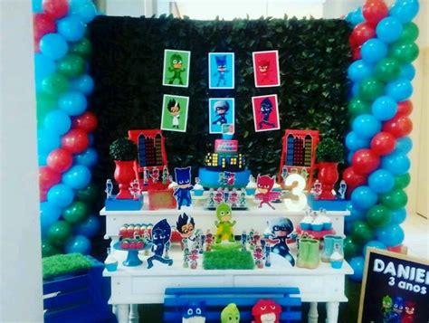 aluguel decoracao pj masks  elo dulce fiesta decora