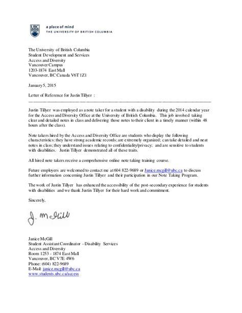reference letter university application employer