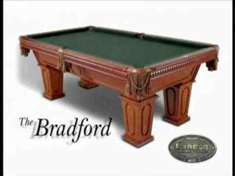 cannon billiards pool tables  construction youtube