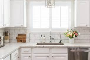 subway tile backsplash kitchen white granite kitchen countertops with white subway tile backsplash transitional kitchen