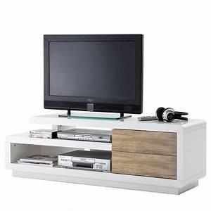 Tv Rack Weiß : mca tv rack cosima lowboard fernsehtisch mit schubladen hochglanz wei 45x142x40cm eiche ~ Whattoseeinmadrid.com Haus und Dekorationen