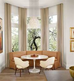 Breakfast Nook Benches by How To Solve The Curtain Problem When You Have Bay Windows
