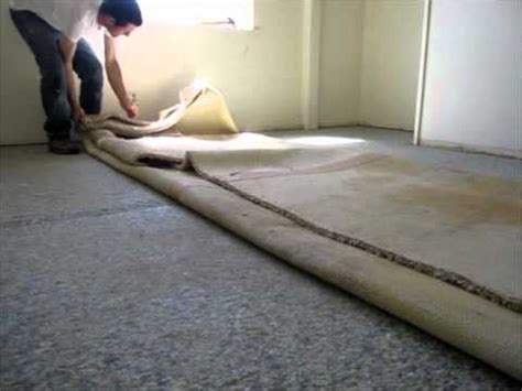 How To Remove Nasty Old Carpet   YouTube