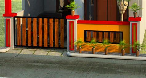 foto pagar rumah minimalis modern