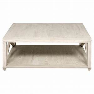 Paden coastal beach washed wood coffee table kathy kuo home for Coastal square coffee table