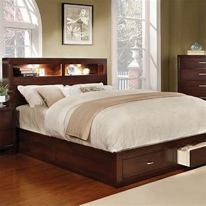 Furniture, Of, America, Gerico, Ii, Contemporary, California, King, Bookcase, Bed, With, Footboard, Storage