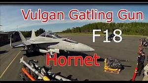 Hornet F18 And Vulgan Gatling Gun