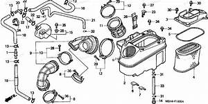 Honda Motorcycle 2000 Oem Parts Diagram For Air Cleaner  1