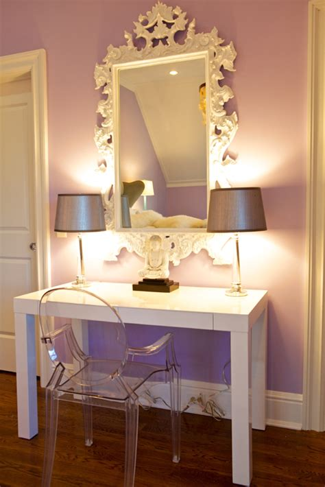 rococo mirror contemporary girl s room sam allen
