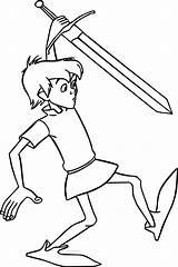 Sword Coloring Stone Arthur King Walking Cartoon Boys Printable Heavy Metal Wecoloringpage Draw Bands sketch template
