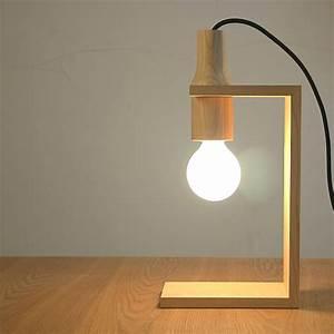 Home Accessories Unique Wooden Table Lamp Design