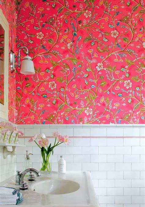 Wallpaper In Bathrooms Babymac